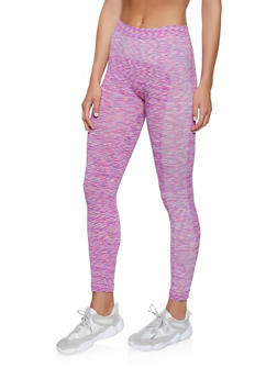 Multi Color Marled Leggings - 1058069022860