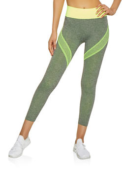 Contrast Band Active Leggings - 1058069022864