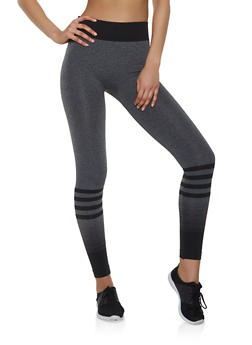 Striped Active Leggings - 1058069022870