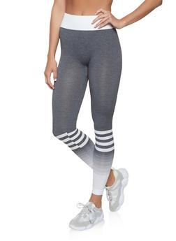 Striped Active Leggings - 1058069022870