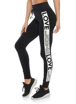 Love Graphic Leggings - 1059001441322