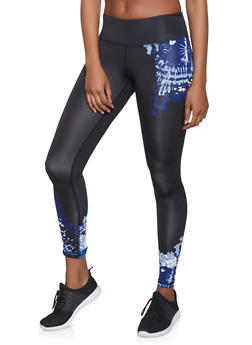 Tie Dye Detail Activewear Leggings - 1059051064078