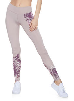Tie Dye Detail Activewear Leggings - 1059051064078