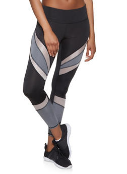 Color Block Activewear Leggings - 1059051064079