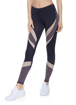 Color Block Activewear Leggings   1059051064079 - 1059051064079