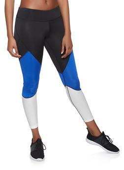 Color Block Activewear Leggings - 1059051064081