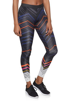 Chevron Activewear Leggings - 1059051064085