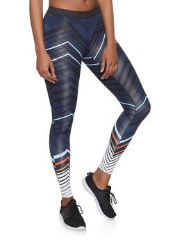 Chevron Activewear Leggings - 1059051064085