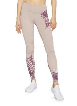 Tie Dye Accent Activewear Leggings - 1059051068704