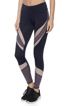 Color Block Activewear Leggings - 1059051069704