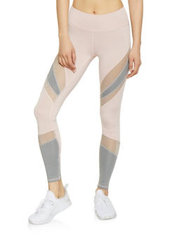 Color Block Activewear Leggings - 1059051069704