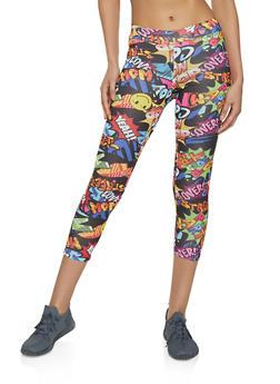 Pop Art Cropped Leggings - 1059061356334
