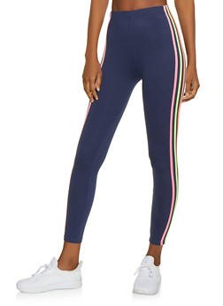 Neon Stripe Soft Knit Leggings - 1059061633580