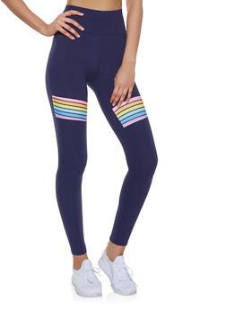 Rainbow Detail Leggings - 1059061633620