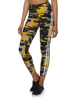 Varsity Stripe Camo Leggings | 1059061635601 - 1059061635601