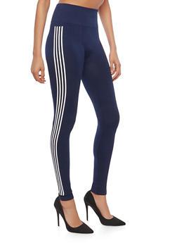 Athletic Stripe Leggings - 1059061636118