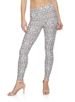 Printed Soft Knit Leggings - 1059062908093