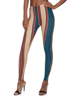 Striped Soft Knit Leggings - 1059062908200