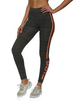 Love Side Striped Leggings - 1059062909184