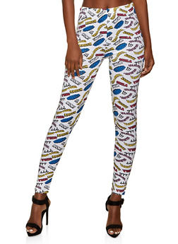 Mamacita Graphic Print Leggings - 1059063406119