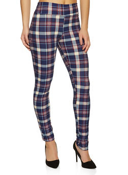Plaid Soft Knit Pants - 1059074010591