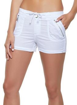 Cuffed Two Button Cargo Shorts - 1060038340274