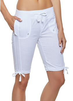 Tie Hem Bermuda Shorts - 1060038342251