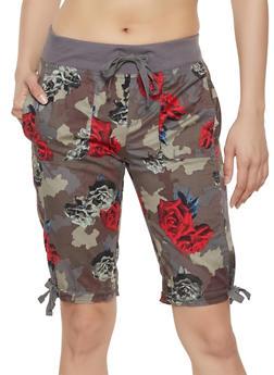 Camo Floral Cargo Shorts - 1060038348929
