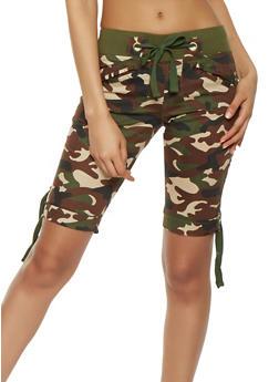 Camo Cargo Bermuda Shorts - 1060038349266