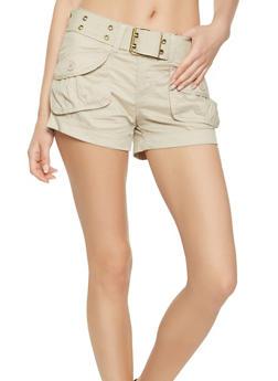 Belted Cargo Shorts - 1060038349270