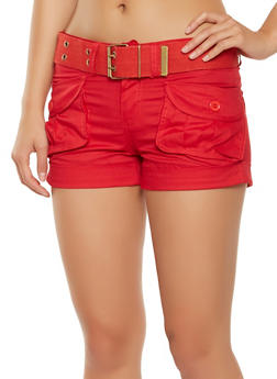 Belted Cargo Shorts - 1060038349270