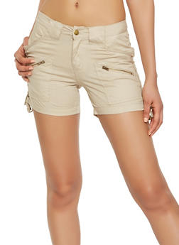 Lace Up Side Cargo Shorts - 1060038349284