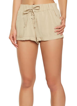 Lace Up Shorts - 1060051061694
