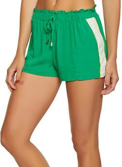 Stripe Side Paper Bag Shorts - 1060051061755