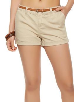 Cuffed Twill Shorts - 1060051065164