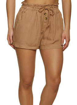 Three Button Detail Shorts - 1060051068170