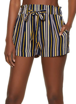 Striped Tie Front Shorts | 1060054264466 - 1060054264466