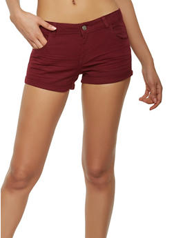 Solid Twill Shorts - 1060054266563