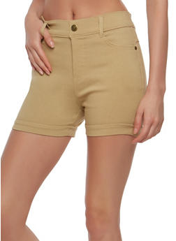 Solid Stretch Shorts - 1060072711280