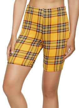 Plaid Soft Knit Bike Shorts - 1060074010654