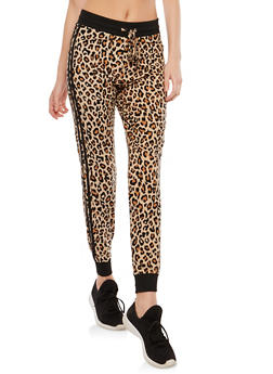 Soft Knit Animal Print Joggers - 1061001443204