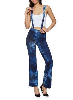 Tie Dye Suspender Flared Pants - 1061020620069