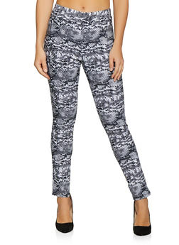 Animal Print Stretch Pants - 1061020622163