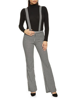 Houndstooth Suspender Dress Pants - 1061020623177