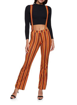 Striped Suspender Pants | 1061020623361 - 1061020623361