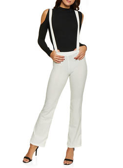 Solid Suspender Pants - 1061020623362