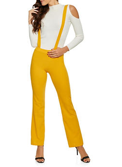 Solid Suspender Pants - 1061020623362