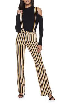 Striped Suspender Pants - 1061020623367