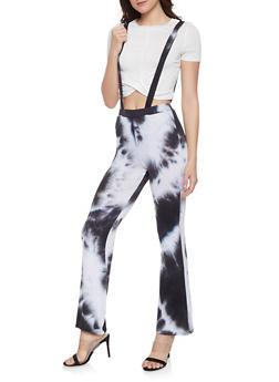 Tie Dye Suspender Pants - 1061020627633