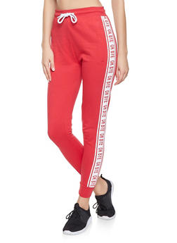 Graphic Tape Joggers - 1061033874181